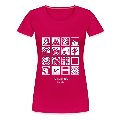T-shirt-jeu 16·peintres - T-shirt Premium Femme