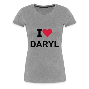 I Heart Daryl Grey T-Shirt - Inspired By The Walking Dead  - Women's Premium T-Shirt