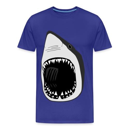 tier t-shirt weisse hai wal shark jaws zähne monster tauchen taucher fisch - Männer Premium T-Shirt