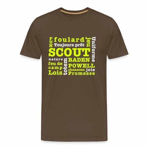 Mots Scouts - T-shirt Premium Homme
