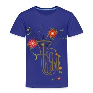 Tuba und Blumen - Kinder Premium T-Shirt