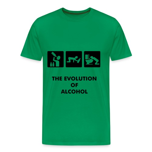 Mannenshirt evolution of alcohol - Mannen Premium T-shirt