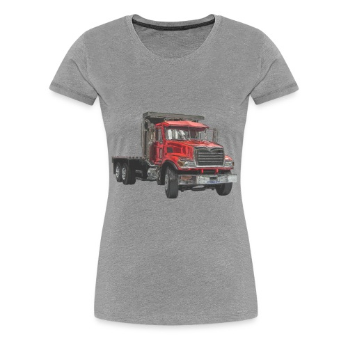 Flatbed Truck 3-axle - Red - Women's Premium T-Shirt