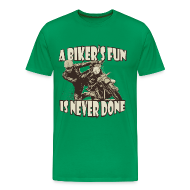 T-Shirts ~ Men's Premium T-Shirt ~ A Biker's Fun