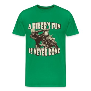 A Biker's Fun - Men's Premium T-Shirt