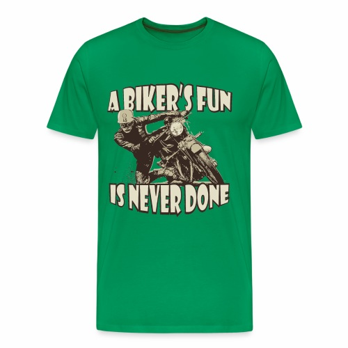 A Biker's Fun - Premium T-skjorte for menn