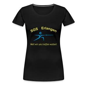 SGS Frauen Schwarz Girlie - Frauen Premium T-Shirt