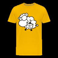 T-Shirts ~ Männer Premium T-Shirt ~ Koffer Packen Schaf