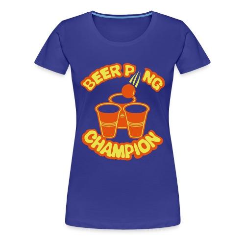 Beer pong champion logo Femme  - T-shirt Premium Femme