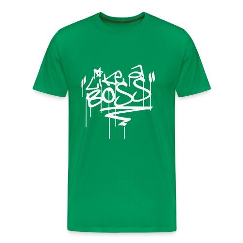 Like A Boss - Tag (Glimmerhvid) T-Shirt - Männer Premium T-Shirt