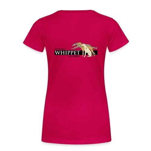 Damtopp, tryck bak - Premium-T-shirt dam