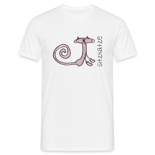 Sitzkatze - Männer T-Shirt