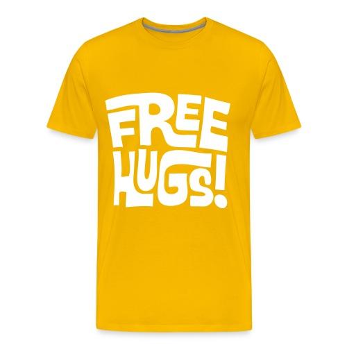 Free Hugs Tshirt Yellow - Men's Premium T-Shirt