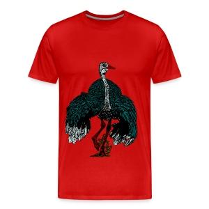 mannen T-shirt met struisvogel - Mannen Premium T-shirt