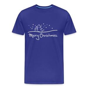 T-Shirt Merry Christmas blau/weiß - Männer Premium T-Shirt