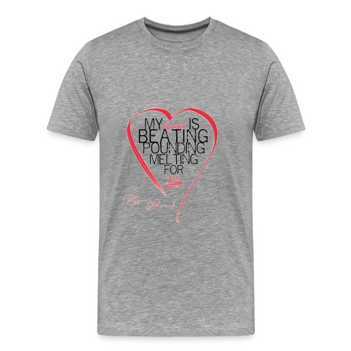 Red Heart with Song Lyrics - Men's Premium T-Shirt