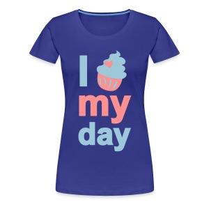 i cupcake my day - Frauen Premium T-Shirt