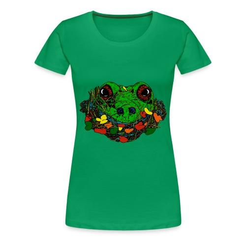 vrouwen T-shirt met kikker - Vrouwen Premium T-shirt