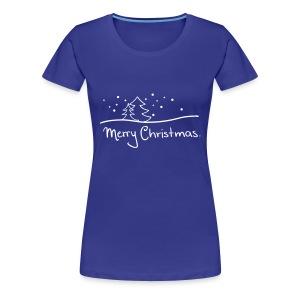 T-Shirt Merry Christmas grün - Frauen Premium T-Shirt
