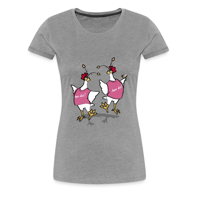 Hen Party (grey) - Women's Premium T-Shirt
