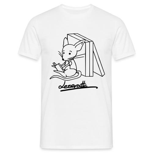 Motiv: Leseratte| Druck: schwarz | verschiedene Farben - Männer T-Shirt