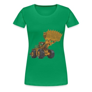 Old Mining Wheel Loader - Yellow - Women's Premium T-Shirt
