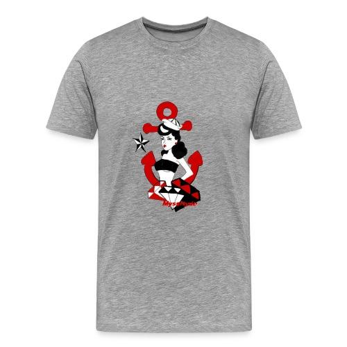 pin up navy - T-shirt Premium Homme