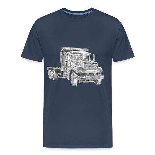Flatbed truck - 3-axle - Men's Premium T-Shirt