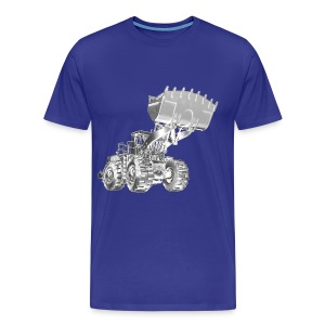 Old Mining Wheel Loader - Men's Premium T-Shirt
