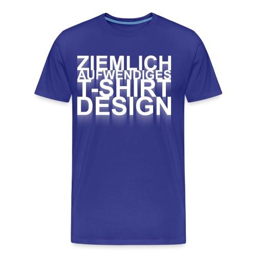 Aufwendiges Shirt royalblau - Männer Premium T-Shirt