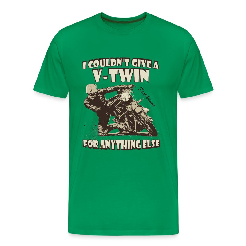 I couldn't give a Vee-Twin biker t-shirt - Men's Premium T-Shirt