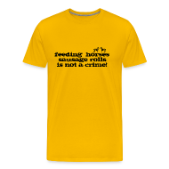T-Shirts ~ Men's Premium T-Shirt ~ Feeding Horses
