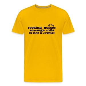 Feeding Horses - Men's Premium T-Shirt