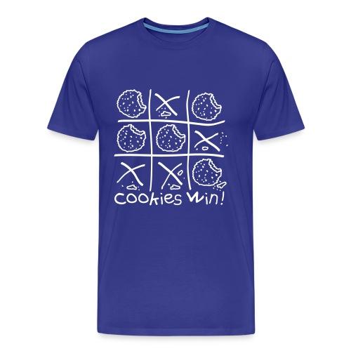 Cookies Win Tshirt Blue - Men's Premium T-Shirt
