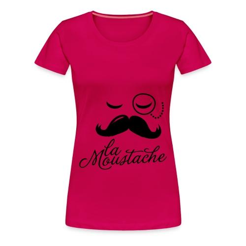 La moustache - Vrouwen Premium T-shirt