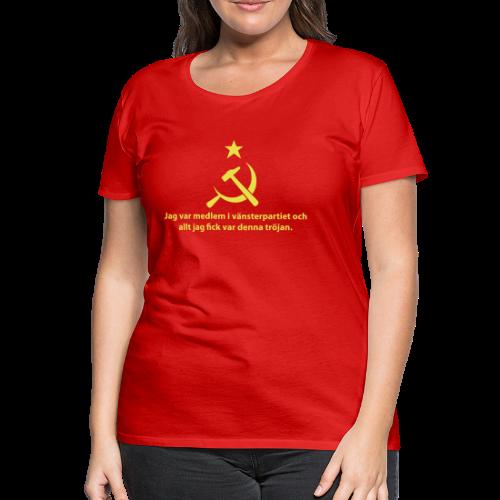 T-shirt dam Premium, Vänsterpartiet Kommunisterna - Premium-T-shirt dam