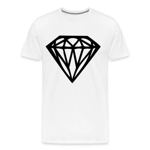 Diamond Tee White - Men's Premium T-Shirt