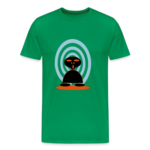 T SHIRT with ALIEN  - Men's Premium T-Shirt