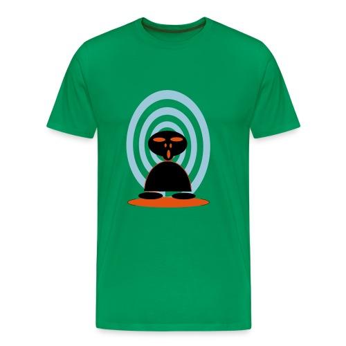 T SHIRT with ALIEN  - Men's Premium T-Shirt