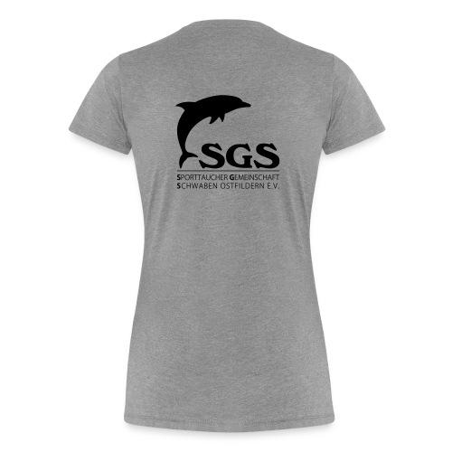 SGS Damen T-Shirt SCHWARZ - Frauen Premium T-Shirt
