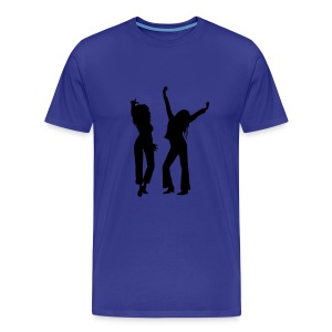 Diva Blue / Black Logo - Men's Premium T-Shirt