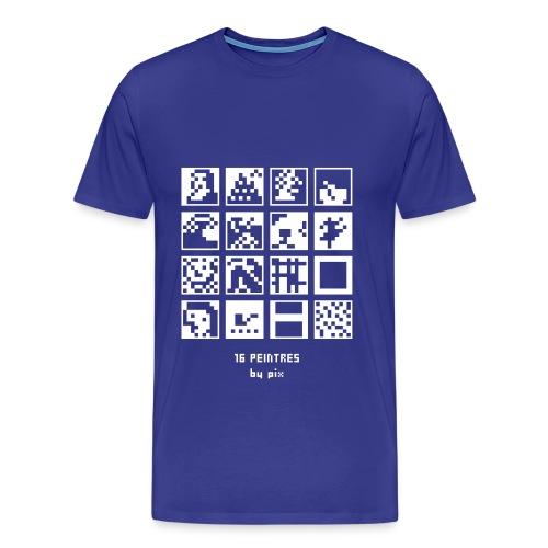 T-shirt-jeu 16·peintres - T-shirt Premium Homme