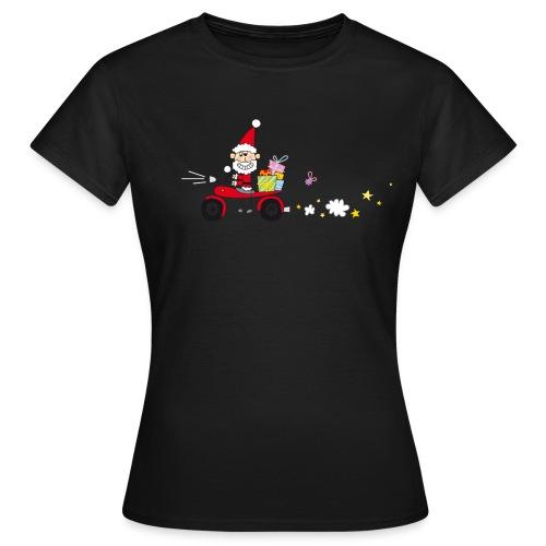 Biker Weihnachtsmann - Frauen T-Shirt