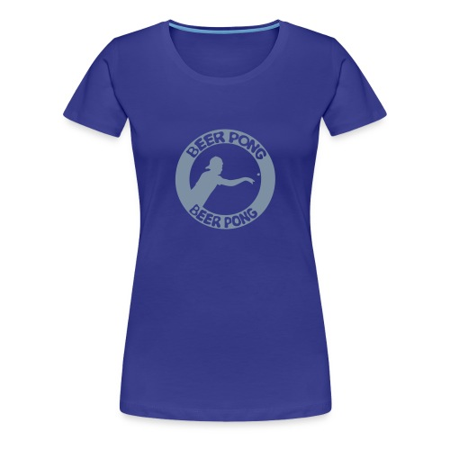 Logo Beer Pong cercle Femme  - T-shirt Premium Femme