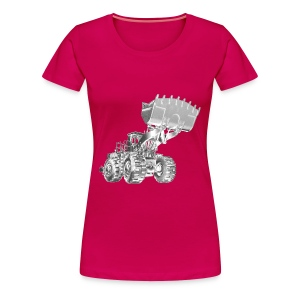 Old Mining Wheel Loader - Women's Premium T-Shirt