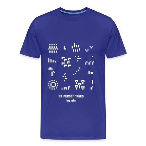 T-shirt-jeu 53·personnages - T-shirt Premium Homme
