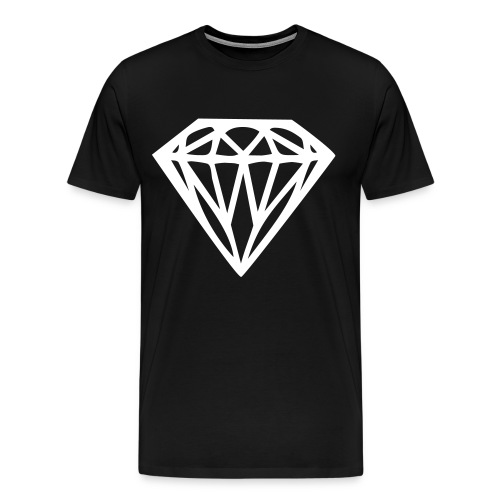 Diamond Tee Black - Men's Premium T-Shirt