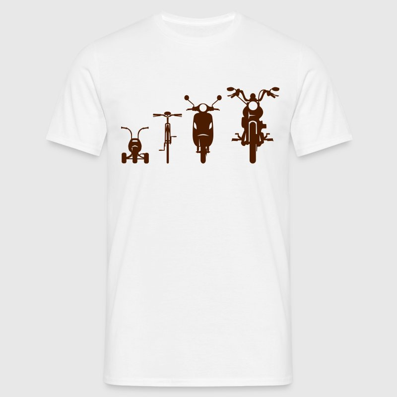 Chopper motorcycle front Evolution  T-Shirts - Men's T-Shirt