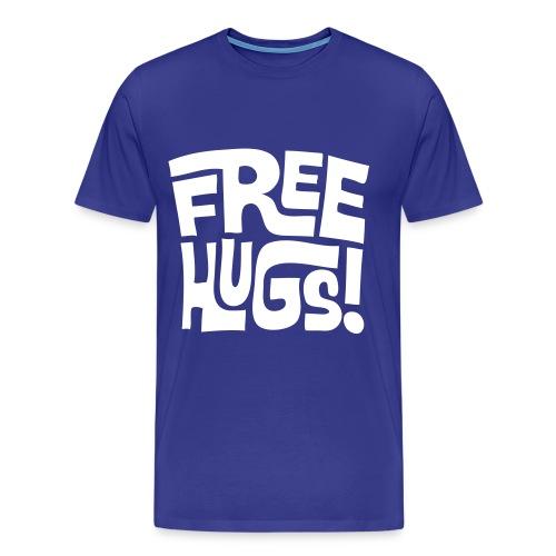 Free Hugs Tshirt Blue - Men's Premium T-Shirt