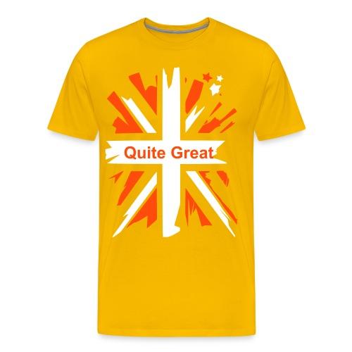 Quite Great Yellow Men's T-Shirt - Men's Premium T-Shirt